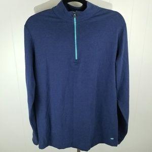 Peter Millar Seaside Blue 1/4 Zip Pullover Jacket